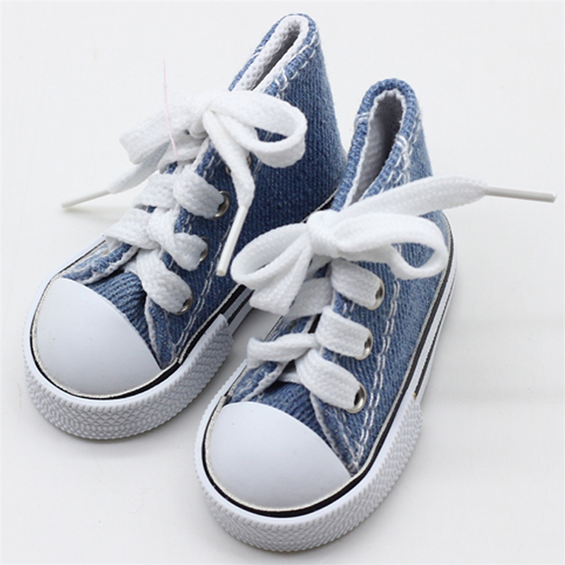 1 Pair 7.5cm Canvas Shoes Dolls Accessories For 60cm 1/3 BJD Canvas Shoes Accessories For DIY Doll Toys For Girls Gift