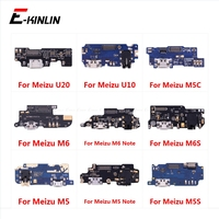 Charging Port Connector Board Parts Flex Cable With Microphone Mic For Meizu U20 U10 M6 M6S M5 M5C M5S Note 8