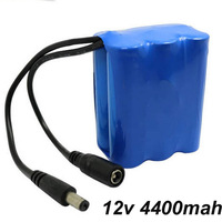12v 18650 4400MAH Li Ion Lithium Rechargeable Battery Pack For LED Searchlight Torch And Flashlight
