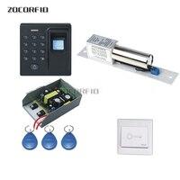 DIY D1 Vingerafdruk + wachtwoord + 125 khz RFID Speciale fire deur toegangscontrole systeem/assecc control system kit