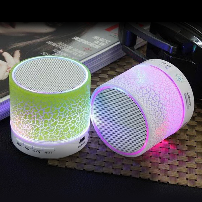 QINGRX A9 LED Bluetooth Speaker Mini Speakers Hands Free Portable Wireless Speaker With TF Card Mic USB Audio Music Player in Portable Speakers from Consumer Electronics