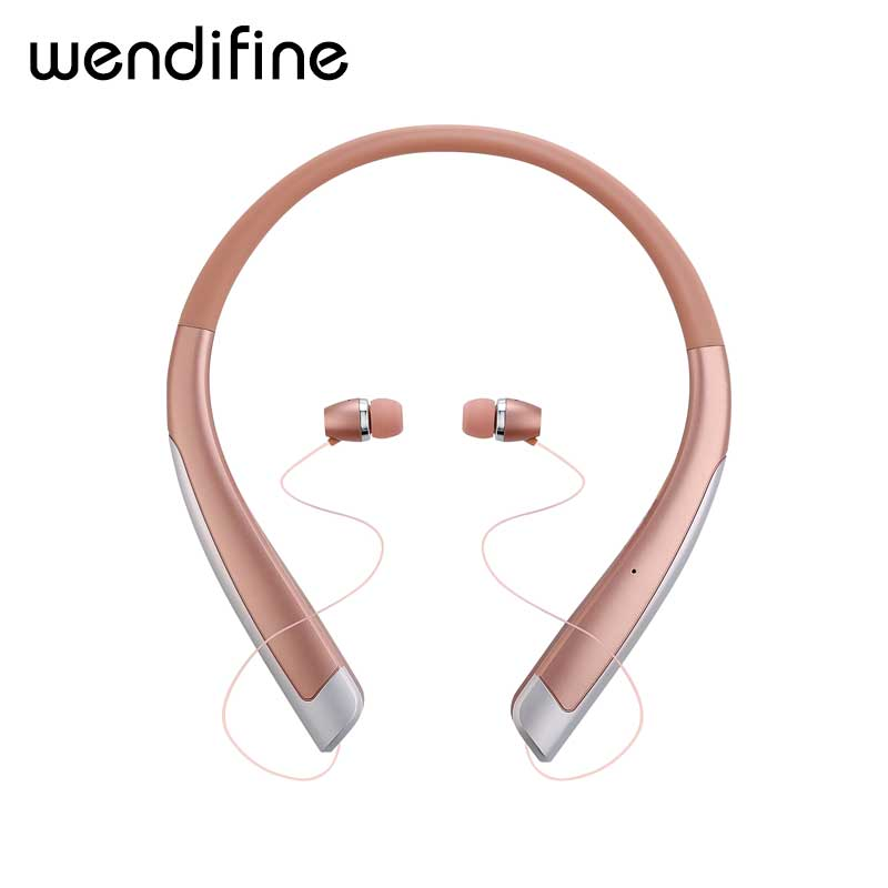 цена на Bluetooth Headset Retractable Earbuds Neckband Sport Headphones Wireless Stereo Bluetooth Earphones with Mic For iphone xiaomi