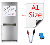 A1 Size 594x841mm Magnetic Whiteboard Fridge Magnets Presentation Boards Home Kitchen Message Boards Writing Sticker 2pen1eraser