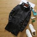 Impreso en el otoño de 2016 nuevos hombres de manga larga trench abrigo de una chaqueta con capucha casual capa larga del tamaño S-3XL envío gratis