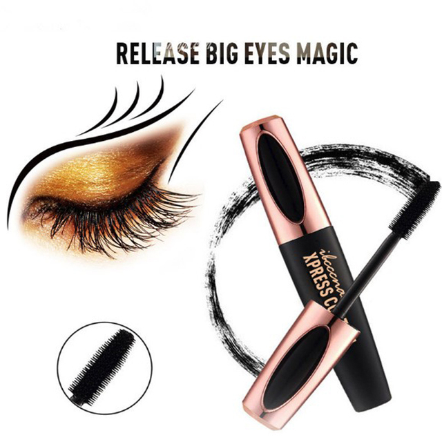 4D Fiber Rimel Eyes Mascara Eyelush Long Lasting Black Waterproof Lengthening Mascara 3D Silk Fiber Eyelush Make Up Rimel 2