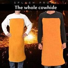 Сварочный фартук из воловьей кожи Сварка теплоизоляция Защитная сварочная одежда Самозащита 3 цвета