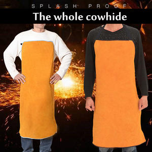 Cowskin Leather Welding Apron Welding Heat Insulation Protection Welding Safety Clothing Self Protect 3 Colors