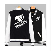 Real 2017 Limited Special Offer Full New Couples Clothing Anime Fairy Tail Guild Emblem Baseball Sweatshirt Jacket Men Hoodie