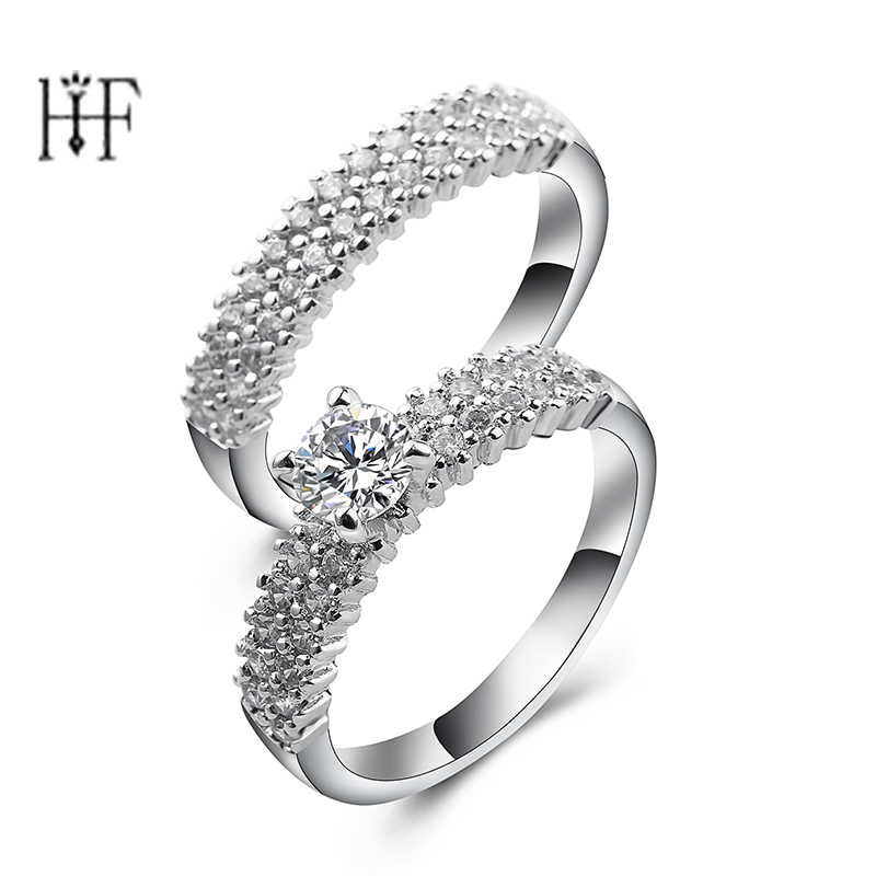 rings 1 set Drop Lonely tears Wedding Ring bague femme anel masculino White Crystal female jewelry sieraden anelli donna