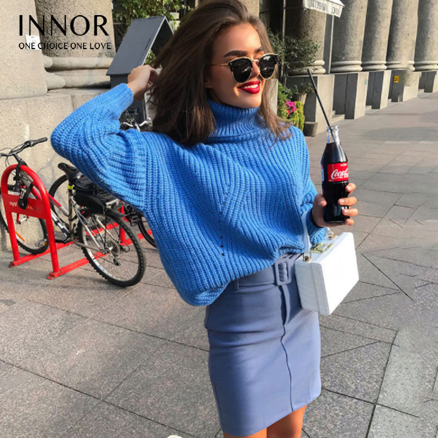 Women Winter Sweaters and Pullovers Turtleneck Sweater Loose Thicken Warm Twist Knitted Sweater pullover Pull Femme