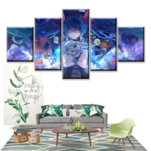 5 Piece HD Print Vocaloid Hatsune Miku Anime Girl Painting Canvas Wall Art Picture Home Decoration Living Room