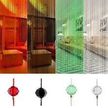 200*100cm Imitated Crystal Bead Fringe Curtain String Curtain Home Living Room Bedroom Decor 7 Colors