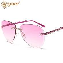 Ретро солнечные очки женщин классические rimless style очки мода солнцезащитные очки для женщин высокого качества лето женский тени очки 937