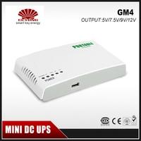 GM4 Portátil Mini UPS 12 9 5 v v v DC Potência de Saída Online com Bateria De Lítio Construído Max 6 horas de Tempo De Backup para o Sistema de CCTV Modem Acessórios para CFTV     -