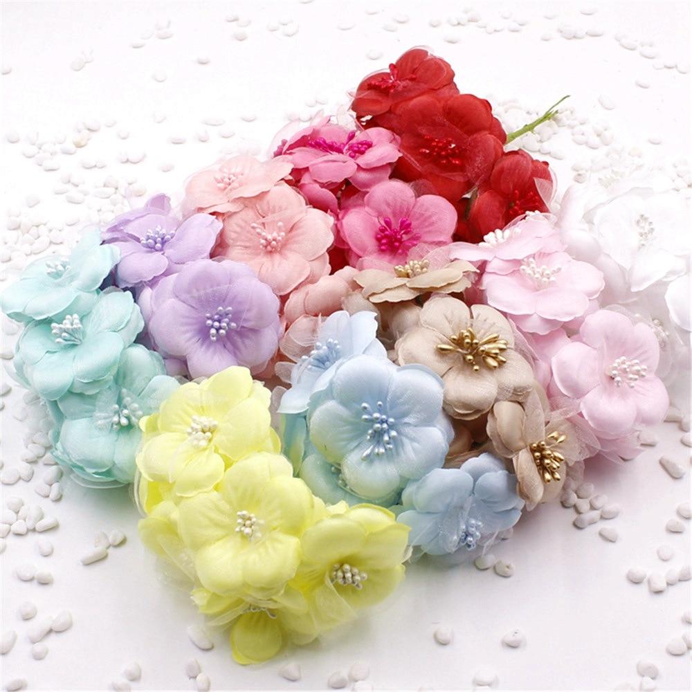 6pcslot 55cm Silk Artificial Daisy Chrysanthemum Flower For