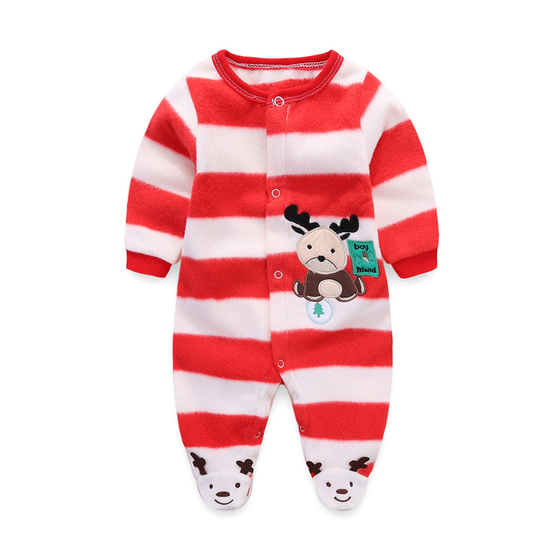 winter Cartoon Animal Newborn Baby Rompers Flannel Baby Wear Infant Jumpsuit baby Boy Girl Clothes Roupas De Infantil 0-12M cartoon rabbit bear baby romper children clothes spring toddler jumpsuit newborn infant clothing wear roupas de bebes