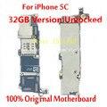 Para iphone 5c mainboard 32 gb versão desbloqueado alta qualidade oficial 100% original placa lógica motherboard com fichas completas
