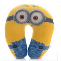 Free Shipping Cute Cartoon Despicable Me Jorge Stewart Dave Travel comfort Foam Particles Pillow U Shape Nap Neck Pillows