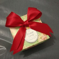 30pcs Paperboard Flower Printed Light Green Small Chocolates Candy Gift Boxes For Wedding And Birthday Event