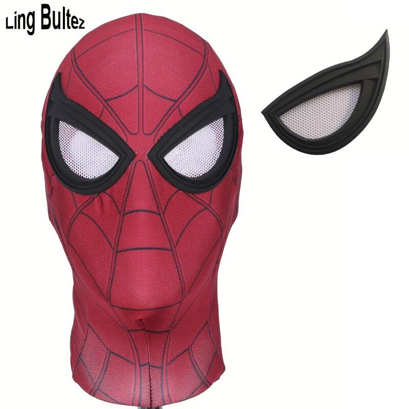 Ling Bultez Hohe Qualität Neueste Tom Holland Spiderman Maske Mit Die Beste Objektiv Nebel Freies Linsen Bürgerkrieg Spiderman Gesicht maske