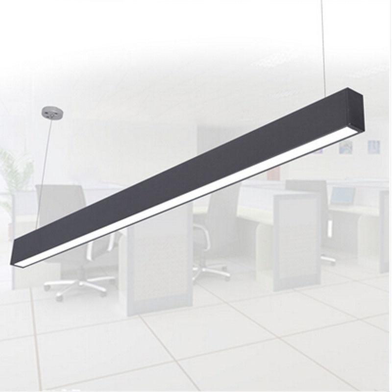 Luminaire suspendu en aluminium moderne de bande de fil d'ingénierie de lampe pendante de puce LED pour la lampe d'étude de salle de conférence de bureau