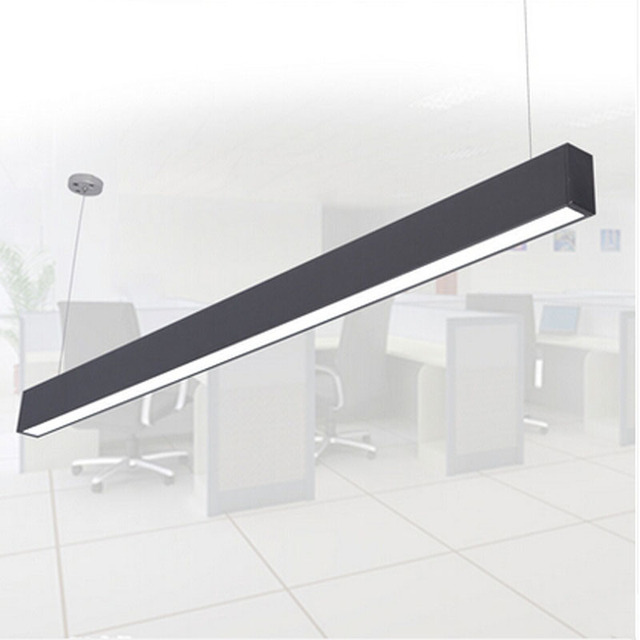 Modern aluminum led chip pendant lamp engineering hanging wire strip modern aluminum led chip pendant lamp engineering hanging wire strip light fixture for office conference room mozeypictures Choice Image