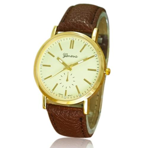 Popular Geneva Men's Casual WristWatch Faux Leather Band Quartz Analog Fashion Design NO181 5V3T popular women s flowers pattern faux leather analog ceramic style quartz watches no181 5v89 w2e8d