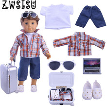 Free Shipping By E-packet Seven sets, suitable for Logan boy doll travel must give the child best birthday gift