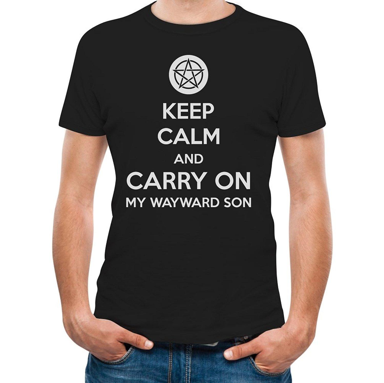 T shirt design keep calm - Printed Tee Shirt Design Keep Calm And Carry On My Wayward Son T Shirt Circle