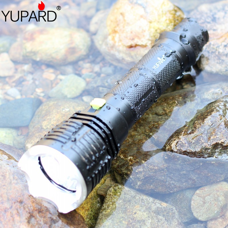 Led Flashlights Yupard Scuba Diving Waterproof Underwater Flashlight Lamp Torch Fill Light T6 Led Purple Light Ultraviolet Purple Light Lantern