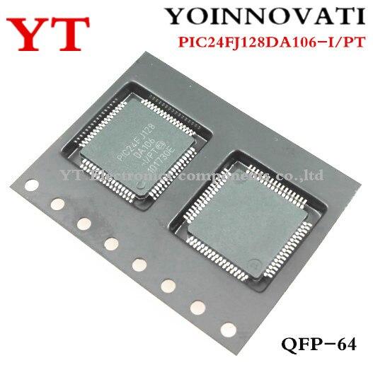 Free shipping 10pcs lot PIC24FJ128DA106 I PT PIC24FJ128DA106 24FJ128DA106 TQFP64 IC Best quality