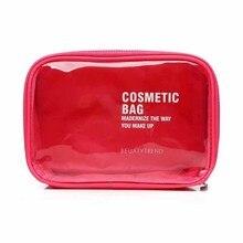 High Quality Transparent Waterproof PVC Cosmetic Bag Envelope Receive Toiletry Bags Makeup Bag Organizer4Colors To Choose