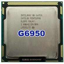 Intel Original Pentium Dual-Core G6950 Processor 2.8 ГГц 3 МБ Кэш LGA1156 73 Вт Desktop Процессор