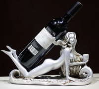 Sexy Naked Beauty Figurine Wine Rack Ornamental Stripper Statue Bottle Rest Barware Utensil Home Decor Craft Present Accessories