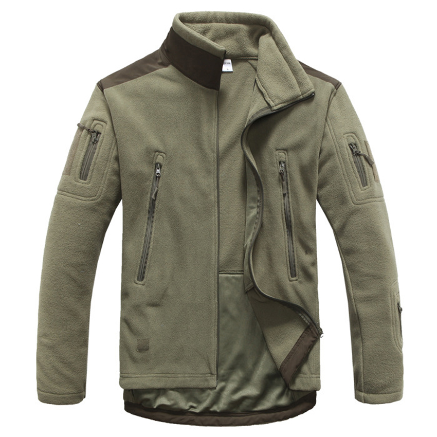 Image 4 - Mountainskin Men's Autumn Military Tactical Jacket Warm Fleece Outerwears Casual High Quality Stitching Jaqueta Male Brand LA654-in Jackets from Men's Clothing