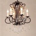 Люстра для столовой в американском стиле  люстра с кристаллами  черная Потолочная люстра  оригинальная Скандинавская лампа для кафе  проект...