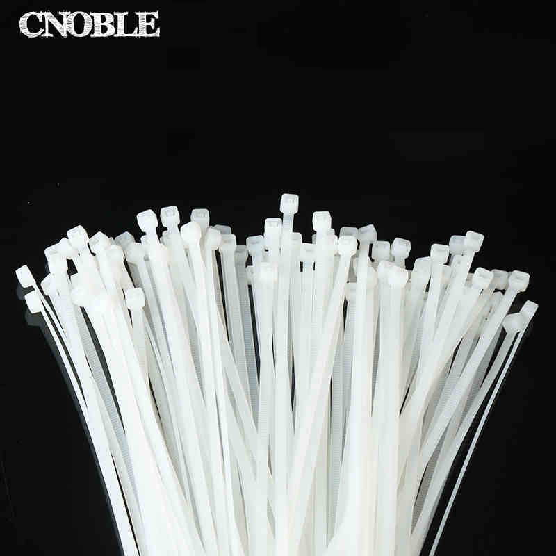 4*150mm 100PCS White self-locking nylon cable ties Plastic Strapscable ties Cable ties Strong tie