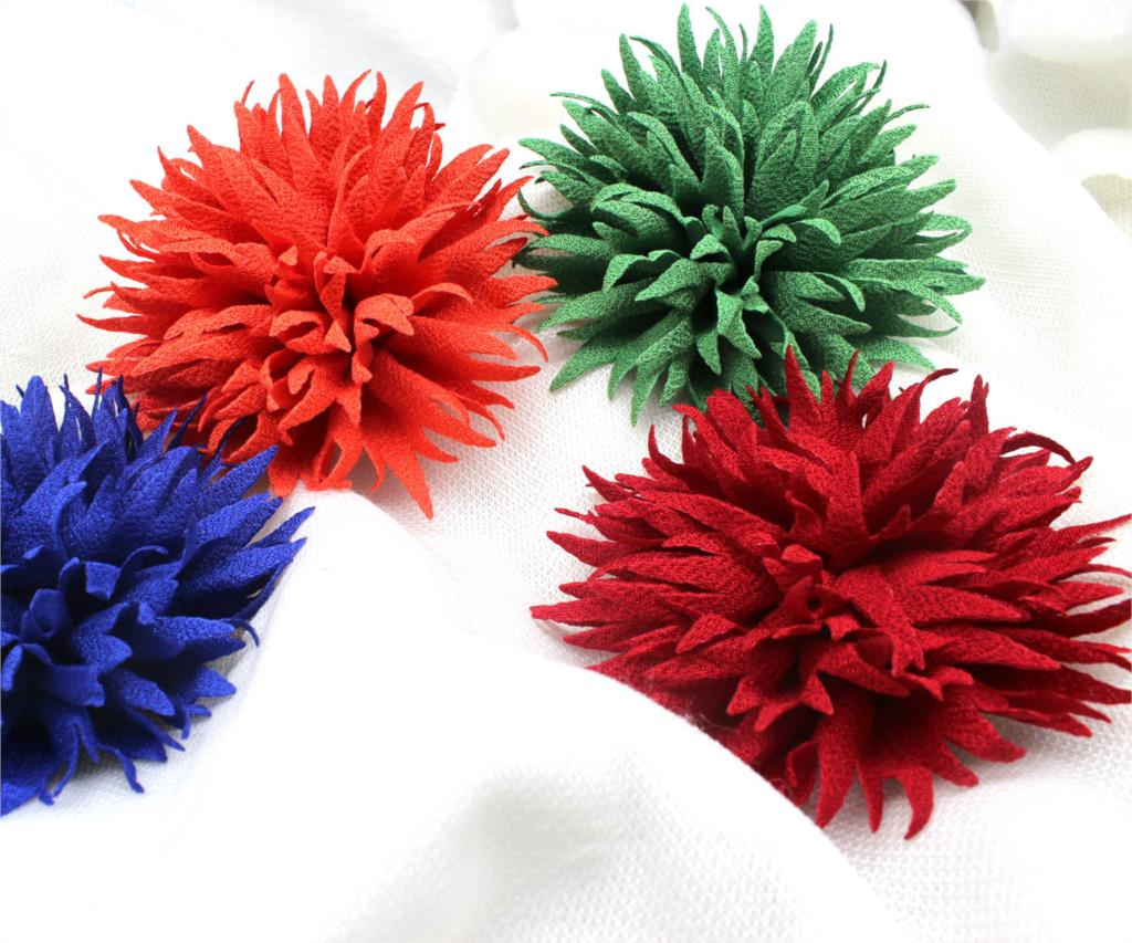 Online get cheap spiky hair aliexpress alibaba group 40 pcs unique fabric flower with lots of spiky shiny petals spike hand made hair flowers no clips 35 dhlflorist Choice Image