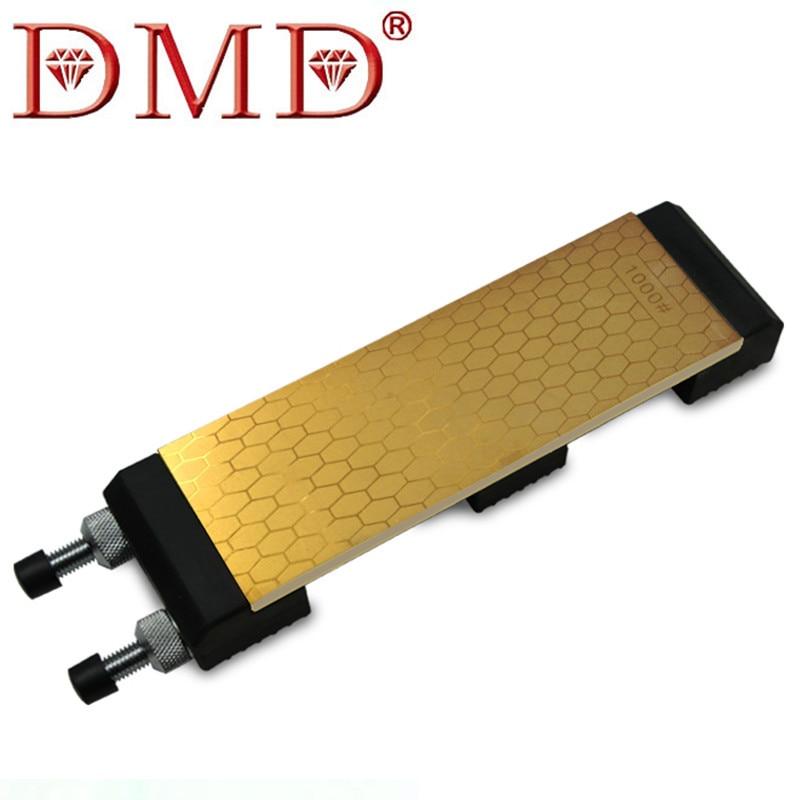 DMD Titanio Diamante Whetstone Double Sided 400 e 1000 Grane Con Il Formato 200*70*8 millimetri Coltello Affilatura pietra con il Supporto h4