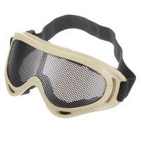 Nieuwe Hot Koop Outdoors Jacht Airsoft Netto Tactische Schokbestendigheid Ogen Beschermen Outdoor Sport Metal Mesh Bril Goggle
