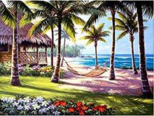 5D Full Diy diamond painting mosaic handmade Summer beach landscape cross stitch square sets Diamond embroidery ASF466(China)