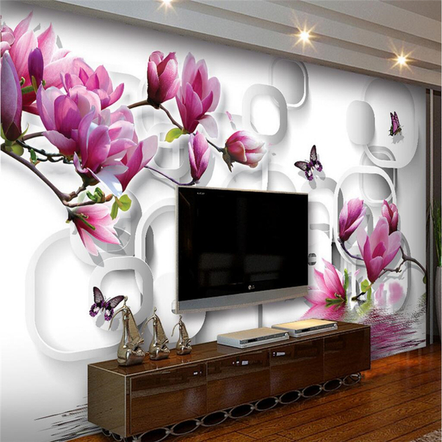 Beibehang Custom Foto Wallpaper Dinding Mural Stiker Dinding Indah