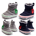 0 to 18 Months Baby Shoes Girls Boys Winter Snow Boots Infant Solid Bowknot Shoes Prewalker Cotton Cloth Baby Casual Shoes