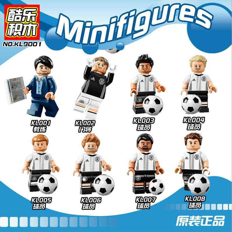 Hot Football Team Player Ronaldo Lionel Messi Neymar Beckham Building Blocks Figure Bricks Toy kids gift Compatible JM132
