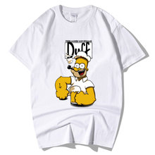 Cartoon T Shirt Comic Homer Duff Men s Funny Tee Shirt Anime Clothing Funny  Gift T- e8834a9393f7
