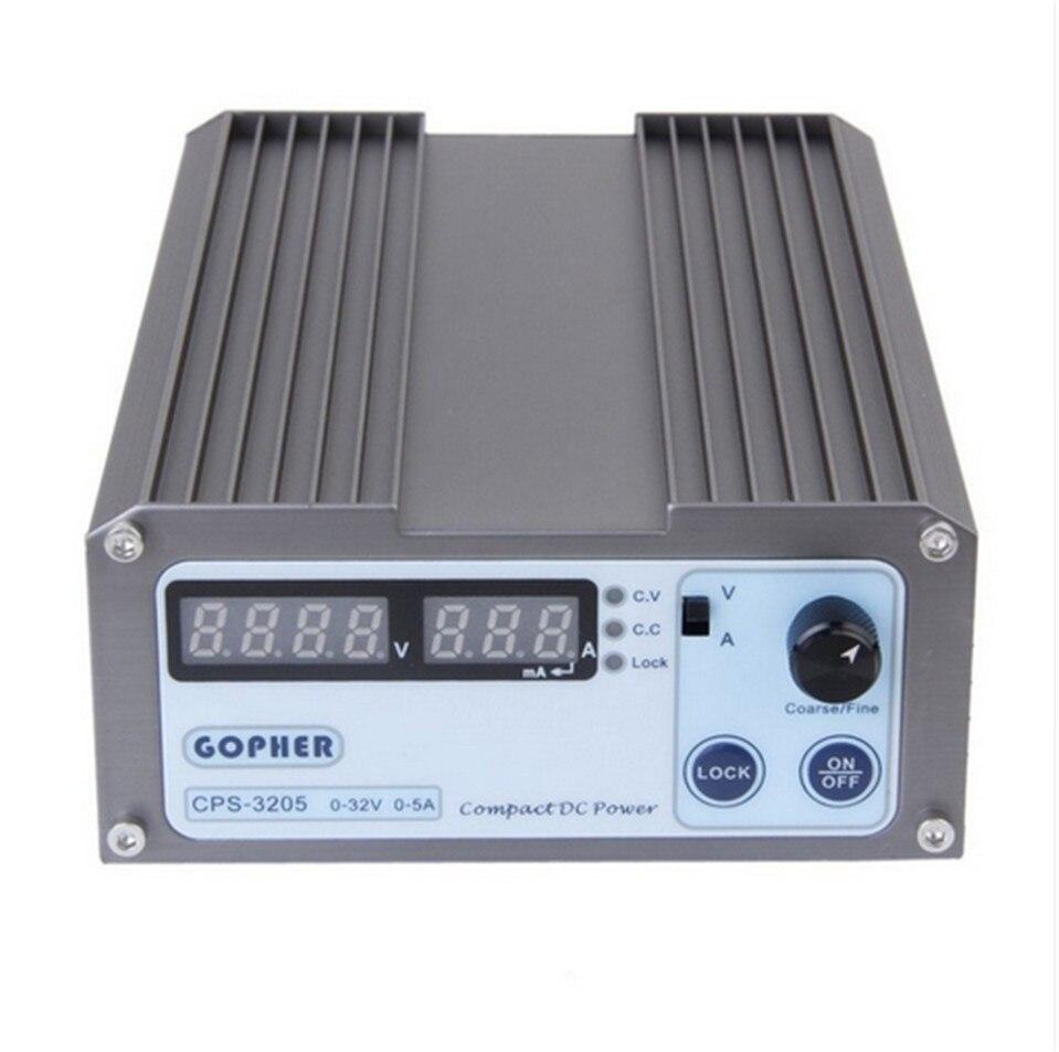 Мини 0-30V-32V Регулируемый DC импульсный Питание 5A 160 Вт SMPS Переключение AC 110 В (95 В-132 В)/220 В (198 В-264 В) вход CPS-3205
