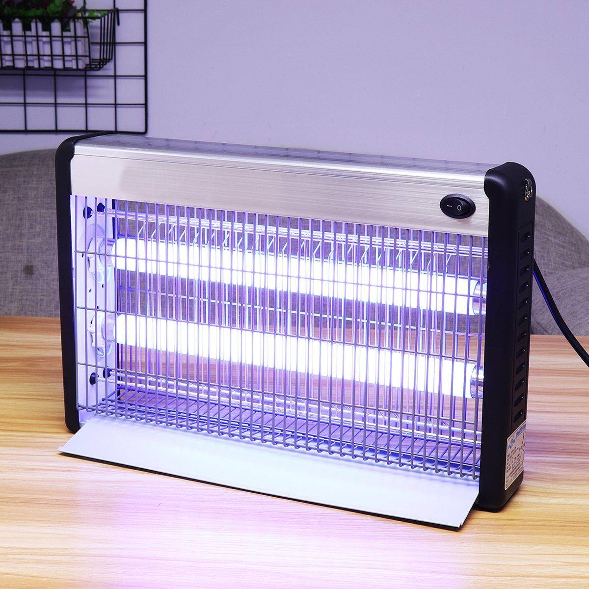 LED luz eléctrica asesino de insectos UV-A Mosquito Pest Fly Bug Zapper Catcher trampa de Control de plagas herramientas accesorios 20/ 30/40 W