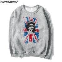 SexPistols God Save The Queen Hoodies Men Print Pattern Punk Rock Style Autumn Winter Fleece Cotton