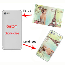 Фотография Custom Diy Phone Case Silicone Cover for iPhone 5 5S 6 6S 6Plus 7 7Plus se 8 Plus X