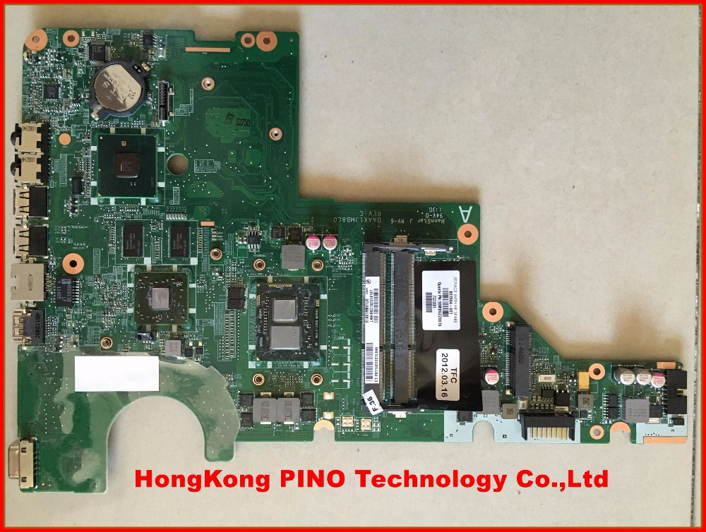 637584-001 for HP CQ42 Laptop Motherboard i3-370 cpu on board HM55 ATI VGA DDR3 100% Tested